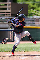 Cedar Rapids Kernels outfielder Gilberto Celestino (8) at bat during a Midwest League game against the Beloit Snappers on June 2, 2019 at Pohlman Field in Beloit, Wisconsin. Beloit defeated Cedar Rapids 6-1. (Brad Krause/Four Seam Images)