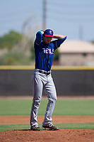 Texas Rangers pitcher Cole Ragans (54) prepares to deliver a pitch to the plate during an Instructional League game against the San Diego Padres on September 20, 2017 at Peoria Sports Complex in Peoria, Arizona. (Zachary Lucy/Four Seam Images)