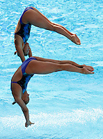 United States' Kelci Bryant and Ariel Rittenhouse compete in the women 3-meter synchro springboard diving finals at the Swimming World Championships in Rome, 24 July 2009..UPDATE IMAGES PRESS/Riccardo De Luca