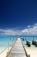 Jetty at Direction Island, Cocos Keelign Islands, Indian Ocean