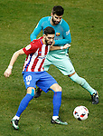 Atletico de Madrid's Yannick Ferreira Carrasco (l) and FC Barcelona's Gerard Pique during Spanish Kings Cup semifinal 1st leg match. February 01,2017. (ALTERPHOTOS/Acero)