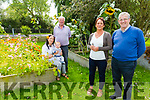 Standing in the garden in the Shannow Family  Resource Centre in Abbeydorney on Monday. Front l to r: Cathy O'Sullivan (Manager) and Pat Hussey.<br /> Seated l to r: Moira and Tadgh Spillane with Denis Burns.