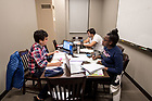 November 30, 2017; Students work in a Dunne Hall study room. (Photo by Matt Cashore/University of Notre Dame)