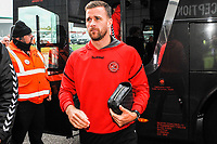 Fleetwood Town's defender Ryan Taylor (18) arriving for the Sky Bet League 1 match between Doncaster Rovers and Fleetwood Town at the Keepmoat Stadium, Doncaster, England on 6 October 2018. Photo by Stephen Buckley / PRiME Media Images.