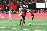 ATLANTA, GA - MARCH 07: ATLANTA, GA - MARCH 07: Atlanta United wingback Jake Mulraney dribbles the ball during the match against FC Cincinnati, which Atlanta won, 2-1, in front of a crowd of 69,301 at Mercedes-Benz Stadium during a game between FC Cincinnati and Atlanta United FC at Mercedes-Benz Stadium on March 07, 2020 in Atlanta, Georgia.