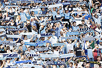 28th August 2021; Olympic Stadium, Rome, Italy; Serie A football, SS Lazio versus AC Spezia : Lazio's fans hold up scarves in support of their team