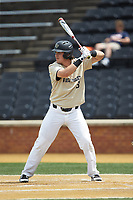 Bobby Seymour (3) of the Wake Forest Demon Deacons at bat against the Virginia Cavaliers at David F. Couch Ballpark on May 19, 2018 in  Winston-Salem, North Carolina. The Demon Deacons defeated the Cavaliers 18-12. (Brian Westerholt/Four Seam Images)