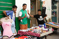 Tripoli, Libya - Medina Street Scene, Young Men Selling Clothes, Cosmetics, Toiletries