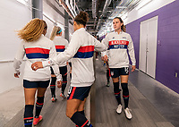 ORLANDO, FL - FEBRUARY 24: Tierna Davidson #12 of the USWNT leaves the locker room before a game between Argentina and USWNT at Exploria Stadium on February 24, 2021 in Orlando, Florida.