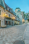 Canada, Quebec, Quebec City, Old Town Street
