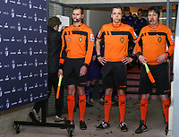 Referees pictured before a female soccer game between Standard Femina de Liege and RSC Anderlecht on the 9th matchday of the 2020 - 2021 season of Belgian Scooore Womens Super League , saturday 12 th of December 2020  in Angleur , Belgium . PHOTO SPORTPIX.BE   SPP   SEVIL OKTEM
