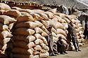 Iraq 2008.Bags of wheat smuggled from Iran to Irak<br /> Iran 2008 Sacs de ble de contrebande rapportes d'Iran a Zahle