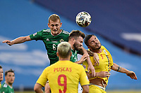 4th September 2020, Bucharest, Romania;  Romania versus Northern Ireland - UEFA Nations League B, Alin Tosca of Romania in action against George Saville of Northern Ireland