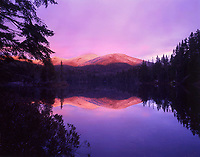 Sunset at Duck Hole before hurricane Irene in the High Peaks Wilderness Area in the  Adirondack Mountains in New York state