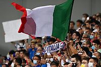 8th September 2021; Mapei Stadium, Città del Tricolore, Reggio Emilia, Italy: FIFA World Cup 2022 qualification, Italy versus Lithuania:  The fans of Italy