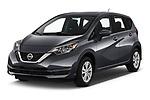 2019 Nissan Versa-Note SV 5 Door Hatchback angular front stock photos of front three quarter view