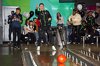 Pictured: George Byers of Swansea City during the Swansea player and fans bowling evening at Tenpin Swansea, Swansea, Wales, UK. Wednesday 22 January 2020