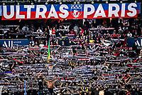 19th September 2021: Le Parc des Princes, Paris, France; French League 1 football Paris Saint Germain versus Olympique Lyonnais:  Supporters of PSG massed in the stands