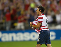 Columbus, Ohio - Tuesday, September 11, 2012: The USA defeated Jamaica 1-0 in the first round of World Cup Qualifying at Columbus Crew Stadium. Herculez Gomez celebrates his goal.