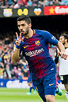 Luis Alberto Suarez Diaz of FC Barcelona celebrates during the La Liga 2017-18 match between FC Barcelona and Valencia CF at Camp Nou on 14 April 2018 in Barcelona, Spain. Photo by Vicens Gimenez / Power Sport Images