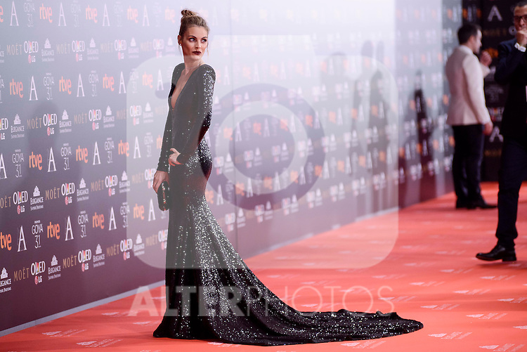 Amaia Salamanca attends to the Red Carpet of the Goya Awards 2017 at Madrid Marriott Auditorium Hotel in Madrid, Spain. February 04, 2017. (ALTERPHOTOS/BorjaB.Hojas)