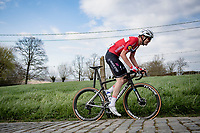 Kasper Asgreen (DEN/Deceuninck - Quick Step) solo's up the Paterberg towards victory in the 64th E3 Classic 2021 (1.UWT)<br /> <br /> 1 day race from Harelbeke to Harelbeke (BEL/204km)<br /> <br /> ©kramon