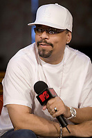 """Rapper Ice-T with """"MTV Live"""" hosts at MTV in Toronto, July 26, 2007.<br /> <br /> Photo by Cody Bokshowan - Agence Quebec Presse"""