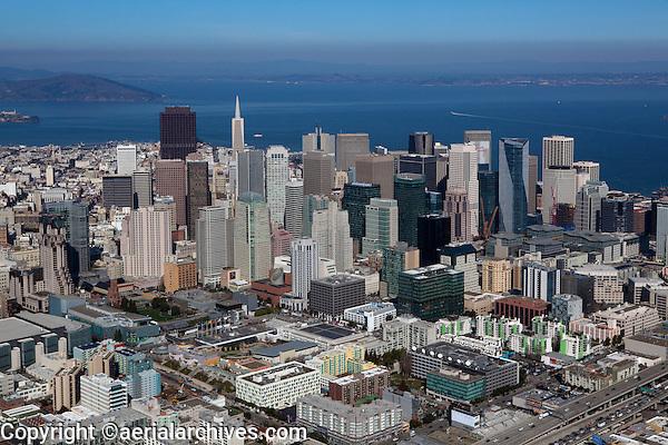 aerial photograph South of Market Street SOMA San Francisco, California