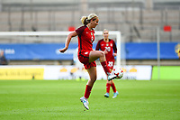 Gothenburg, Sweden - Thursday June 08, 2017: Lindsey Horan during an international friendly match between the women's national teams of Sweden (SWE) and the United States (USA) at Gamla Ullevi Stadium.