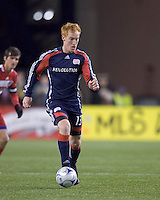 New England Revolution midfielder/defender Jeff Larentowicz (13). The New England Revolution defeated FC Dallas, 2-1, at Gillette Stadium on April 4, 2009. Photo by Andrew Katsampes /isiphotos.com