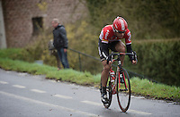 Jurgen Roelandts (BEL/Lotto-Soudal) overtook Maarten Tjallingii (NLD/LottoNL-Jumbo) as race leader with 75km's to go. He will manage to stay ahead for almost 60km's.<br /> <br /> 77th Gent-Wevelgem 2015