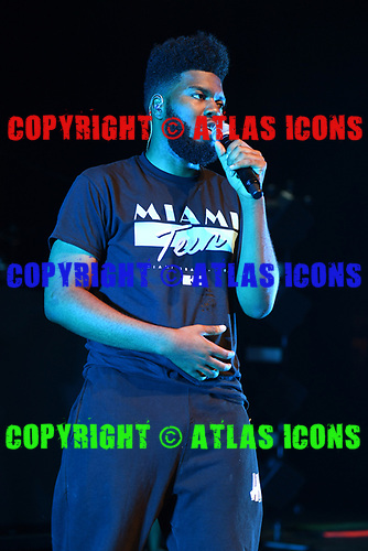 MIAMI BEACH, FL - AUGUST 02: Khalid performs at the Fillmore on August 2, 2017 in Miami Beach, Florida. Credit Larry Marano © 2017