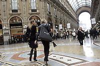 La Galleria Vittorio Emanuele, a Milano.<br /> Scene in the Galleria Vittorio Emanuele, <br /> Milan.<br /> UPDATE IMAGES PRESS/Riccardo De Luca