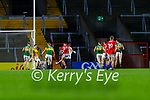 Mark Keane, Cork, scores his side's only goal in the dying seconds of the match during the Munster GAA Football Senior Championship Semi-Final match between Cork and Kerry at Páirc Uí Chaoimh in Cork.