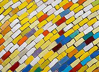 Hanoi Ceramic Mosaic Mural. It is the world's largest ceramic mosaic built from ceramic tesserae.
