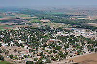 Aerial of Fowler, Colorado.  Aug 4, 2013. 80759