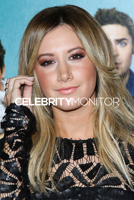 """LOS ANGELES, CA - JANUARY 27: Ashley Tisdale at the Los Angeles Premiere Of Focus Features' """"That Awkward Moment"""" held at Regal Cinemas L.A. Live on January 27, 2014 in Los Angeles, California. (Photo by David Acosta/Celebrity Monitor)"""