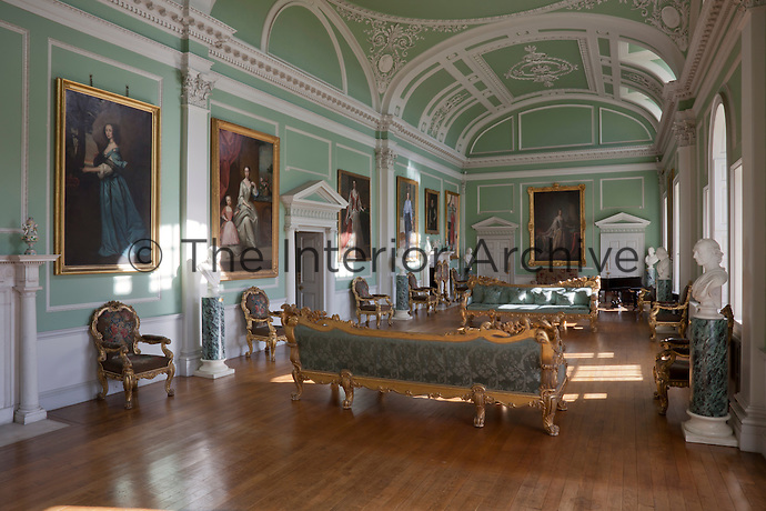During the house's use as a military convalescent home in WWI the long gallery was used as a dormitory