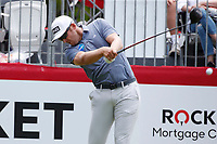3rd July 2021, Detroit, MI, USA;   Seamus Power hits his tee shot on the first hole on July 3, 2021 during the Rocket Mortgage Classic at the Detroit Golf Club in Detroit, Michigan.