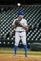 AZL Royals relief pitcher Gustavo Tejeda (38) prepares to deliver a pitch to the plate against the AZL Cubs on July 19, 2017 at Sloan Park in Mesa, Arizona. AZL Cubs defeated the AZL Royals 5-4. (Zachary Lucy/Four Seam Images)