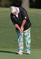 17th October 2020; Richmond, Virginia, USA; John Daly taps in a short putt on the 18th green during the Dominion Energy Charity Classic on October 17, 2020, at The Country Club of Virginia James River Course in Richmond