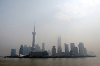 CHINA. Shanghai. The famous PuDong skyline. Shanghai is a sprawling metropolis or 15 million people situated in south-east China. It is regarded as the country's showcase in development and modernity in modern China. This rapid development and modernization, never seen before on such a scale has however spawned countless environmental and social problems. 2008.