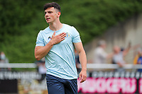 Dante Vanzeir (25) of Union pictured hand on heart before a preseason friendly soccer game between Tempo Overijse and Royale Union Saint-Gilloise, Saturday 29th of June 2021 in Overijse, Belgium. Photo: SPORTPIX.BE   SEVIL OKTEM