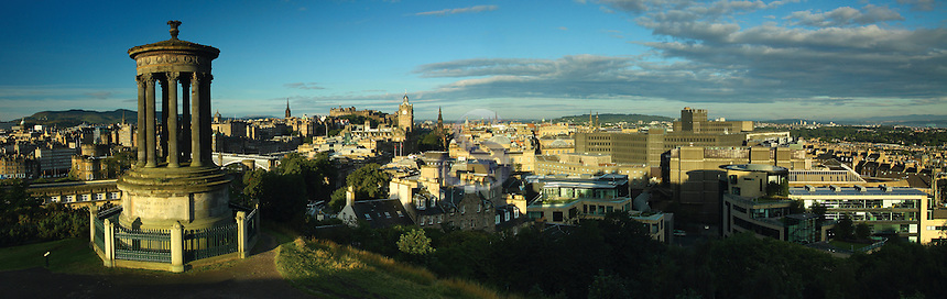 Edinburgh and Edinburgh Castle from Calton Hill, Edinburgh, Lothian<br /> <br /> Copyright www.scottishhorizons.co.uk/Keith Fergus 2011 All Rights Reserved