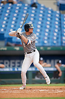 Kurtis Reid (8) of Hamilton High School in Hamilton, OH during the Perfect Game National Showcase at Hoover Metropolitan Stadium on June 17, 2020 in Hoover, Alabama. (Mike Janes/Four Seam Images)