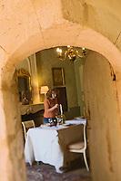 Europe/France/Aquitaine/24/Dordogne/Monestier: Maison d'Hôtes: Château des Baudry - détail de la salle à manger<br />  [Non destiné à un usage publicitaire - Not intended for an advertising use]
