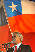 Chile elect president Sebastian Pinera speaks to supporters after his victory in the runoff presidential elections in Santiago, Sunday, Jan. 17, 2010. Billionaire Sebastian Pinera, of the opposition center-right Coalition for Change, won the election ending two decades of center-left rul