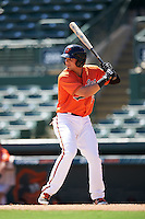 Baltimore Orioles Alejandro Juvier (28) during an Instructional League game against the Boston Red Sox on September 22, 2016 at the Ed Smith Stadium in Sarasota, Florida.  (Mike Janes/Four Seam Images)