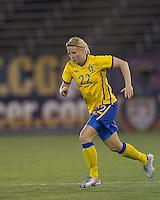 Sweden defender Annica Svensson (22). The US Women's national team beat Sweden, 3-0, at Rentschler Field on July 17, 2010.