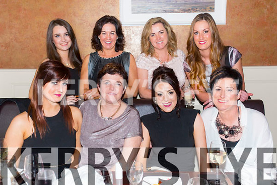 Blush and Brush Christmas Party at Darcy's on Saturday.Pictured  Front l-r Sadhbh Clifford, Orla Landers, Maureen McCarthy, Francis McCarthy.  Back l-r Amy Shalvey, Helen O'Brien, Sian Clinton, Natalie Herbert